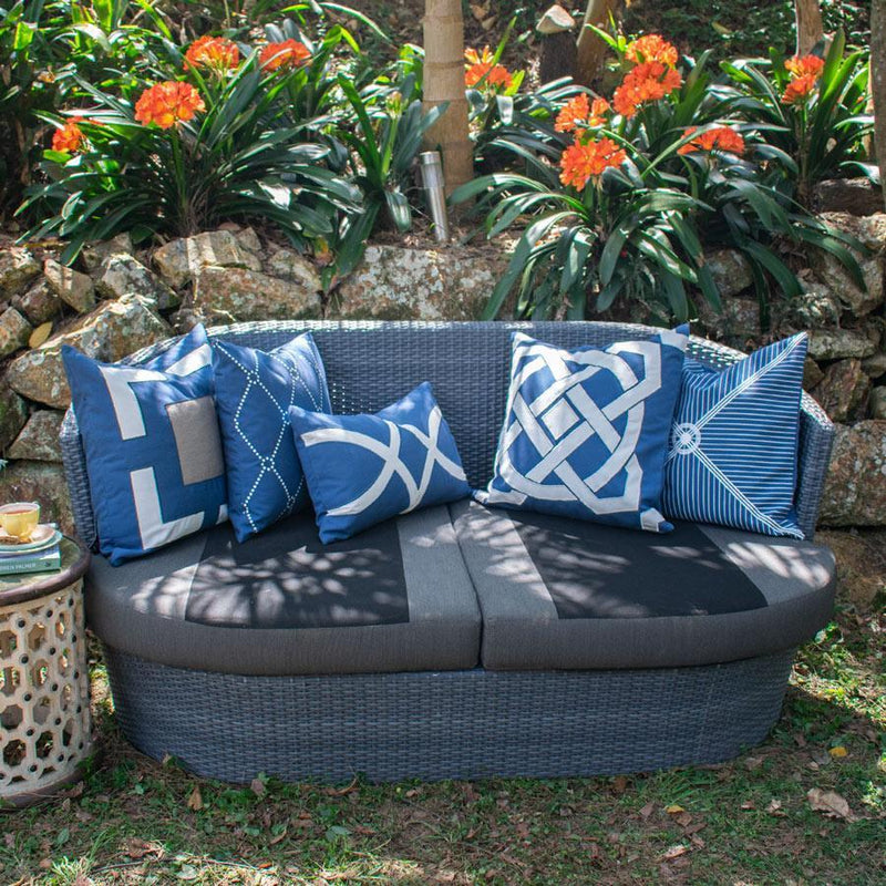 Bandhini Outdoor Storm Compass Lounge Cushion