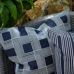 Bandhini Outdoor Navy Parasquare Lounge Cushion