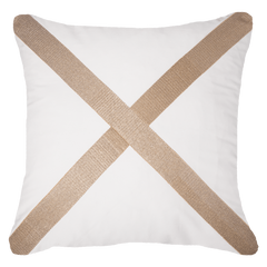 Bandhini White & Gold Leaf Bone Lounge Cushion