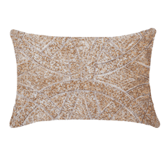 Bandhini Gold Beaded Chanel Lumbar Cushion