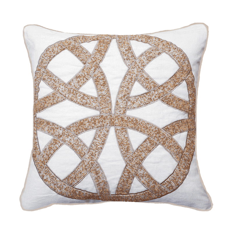 Bandhini Natural Intertwined Lounge Cushion