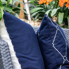 Bandhini Outdoor Navy Dots Lounge Cushion