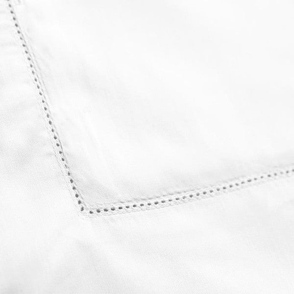Baksana 500 Thread Count Percale Cotton Sheets White