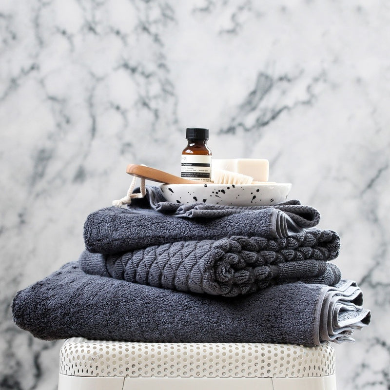 Baksana Bamboo & Cotton Towels Charcoal