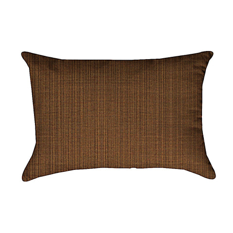 Shell Beach Dupione Oak Sunbrella Outdoor Lumbar Pillow