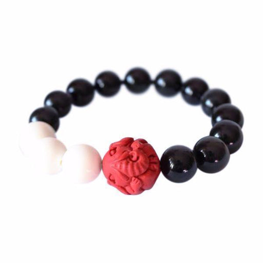 Black Obsidian Chinese Traditional Luck Bracelet - planetshopper.net