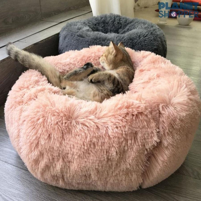 Comfy Faux Fur Pet Bed - planetshopper.net