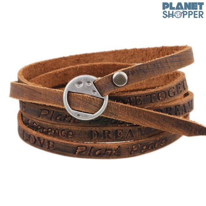 Men's Leather Vintage Bracelet - planetshopper.net