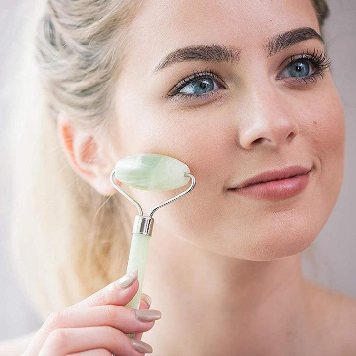 Real Jade Facial Roller and Gua Sha Set - planetshopper.net