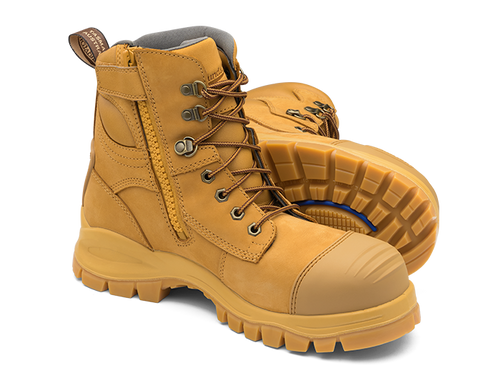 BLUNDSTONE 992 Leather Work Boots Wheat