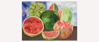 Frida Kahlo, Viva La Vida Watermelons Inspired Art