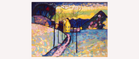 Kandinsky Winter Landscape Inspired Art
