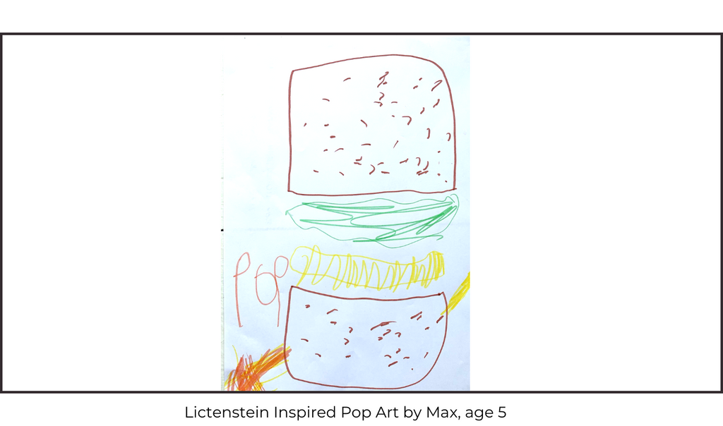Lichtenstein Pop Art Children's Art Class