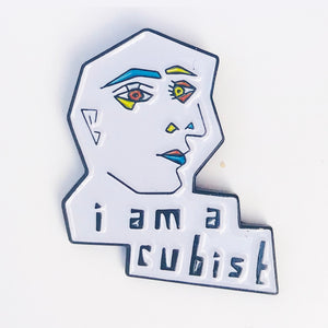 I Am A Cubist Enamel Art Pin - Dot Kids Ltd