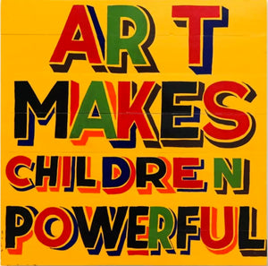 Children's Slogan Art Workshop - Whitstable Biennale 2018 - Dot Kids Ltd