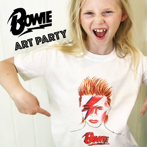 Design A David Bowie T-shirt - Children's Art Party