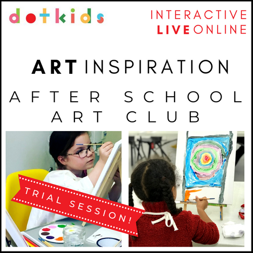 Trial Session Of After School Art Club: Interactive, Live & Online