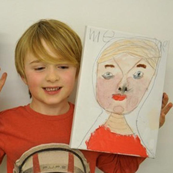 Father's Day Portrait Children's Art Workshop - Whitstable After School Art Club
