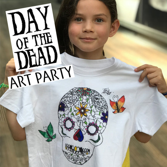 Design A Day Of The Dead T-shirt - Children's Art Party