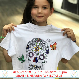 Design A Day Of The Dead T-shirt - Children's Workshop - Grain & Hearth Bakery, Whitstable