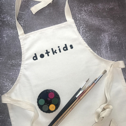 Dot Kids Children's Fabric Art Apron