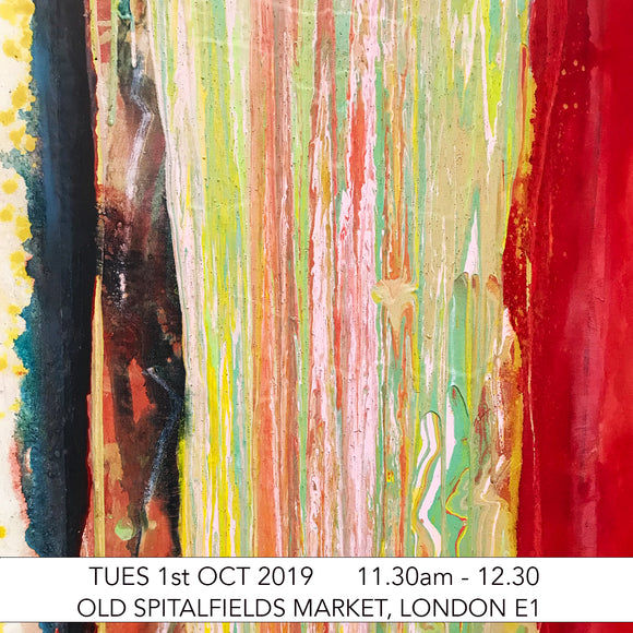 Pre-School Art Club: Frank Bowling Drip Paintings Children's Art Workshop: Old Spitalfields Market, London E1