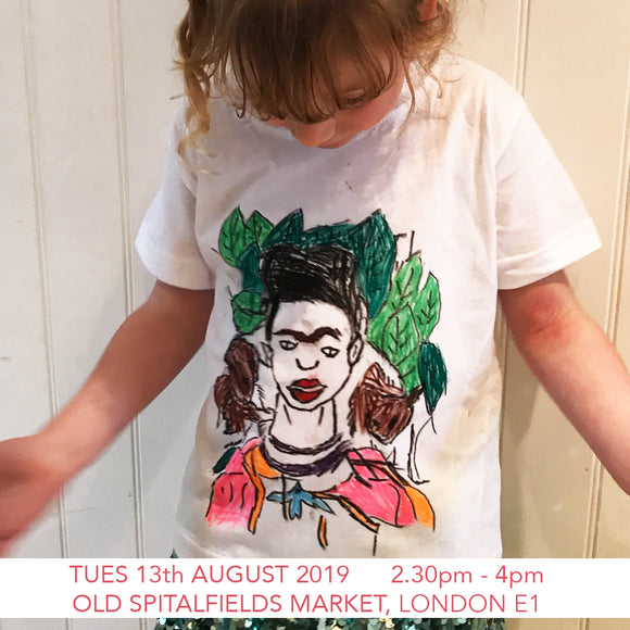 Design a Frida Kahlo T-shirt - Children's Workshop - Old Spitalfields Market, London E1