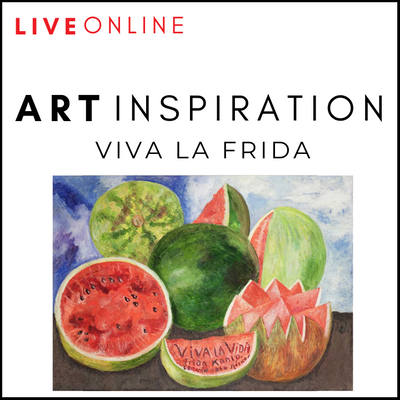 ART LIVE ONLINE! Viva La Frida Online Art Workshop For Children
