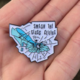 Smash The Class Ceiling Enamel Pin - Dot Kids Ltd