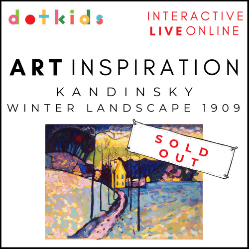 KANDINSKY WINTER LANDSCAPE: Art Inspiration Workshop For All The Family: Live Online: Tues 29th Dec 10.30am