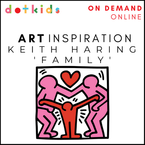 ON DEMAND: Keith Haring Family Online Art Workshop For Children