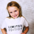 LIMITED EDITION T-Shirt For Children: White With Black Font Design