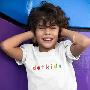 Dot Kids Logo Children's T-shirt - White - Dot Kids Ltd