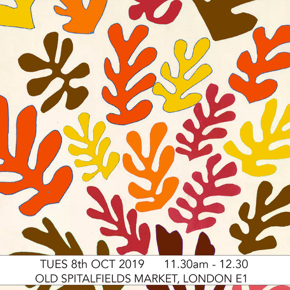 Adult & Child Pre-School Art Club: Matisse Autumn Cut Outs Children's Art Workshop: Old Spitalfields Market, London E1