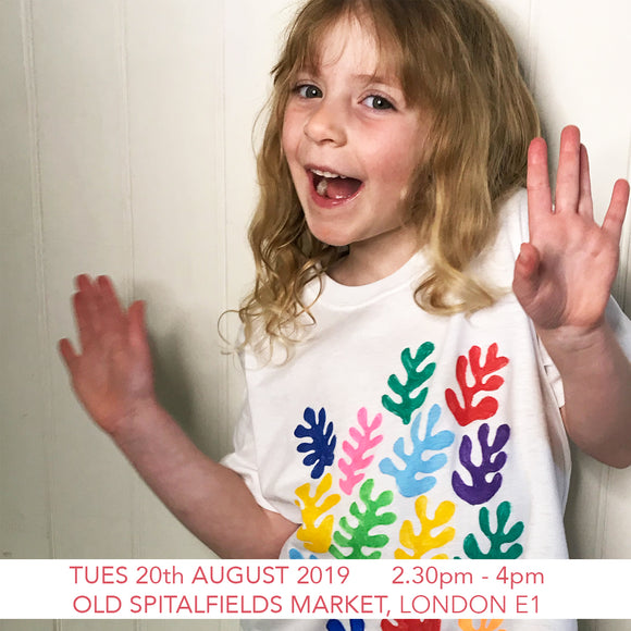 Design a Matisse Inspired T-shirt - Children's Workshop - Old Spitalfields Market, London E1