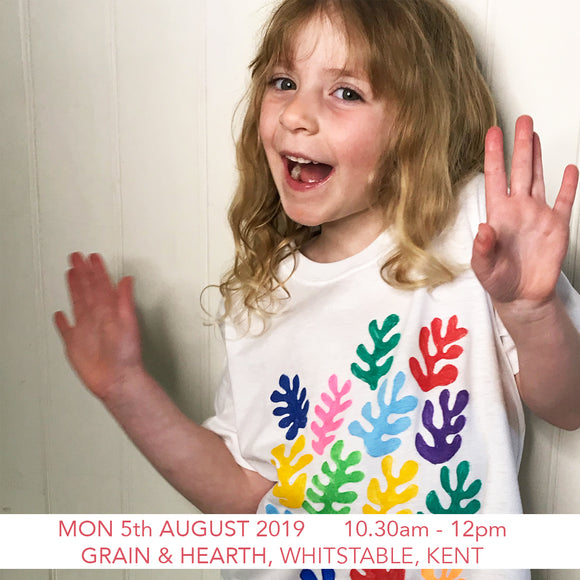 Matisse Inspired T-shirt - Children's Workshop - Grain & Hearth Bakery, Whitstable