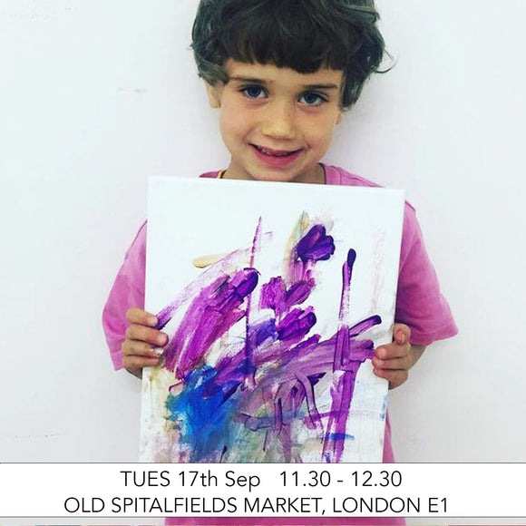 Adult & Child Pre-School Art Club: Mix It Up! Art Workshop: Old Spitalfields Market, London E1