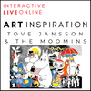 INTERACTIVE LIVE ONLINE! Tove Jansson & The Moomins Art Inspiration Workshop For Children