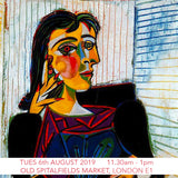 Picasso Children's Cubist Portrait Workshop - Old Spitalfields Market, London E1