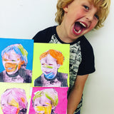 Pre-School Art Club: Portrait Painting Art Workshop: Old Spitalfields Market, London E1