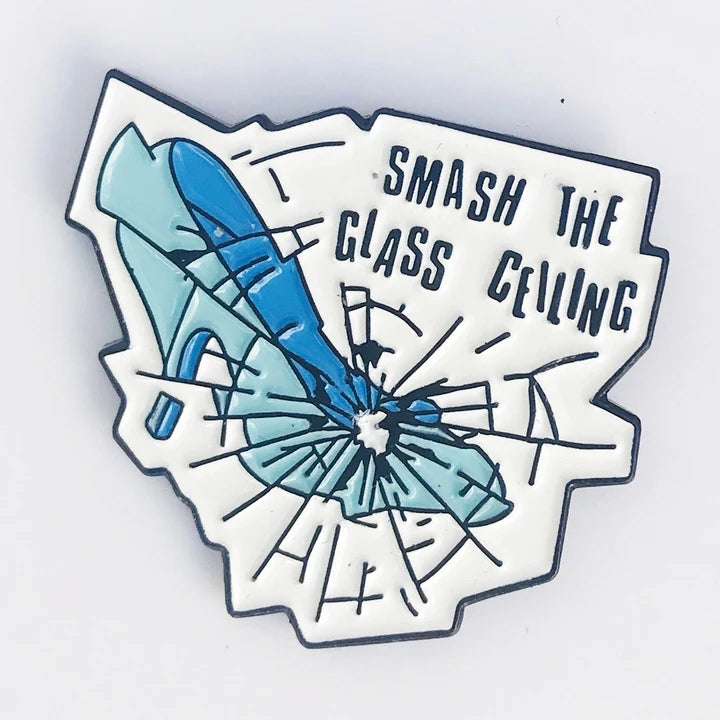 Smash The Class Ceiling Enamel Pin