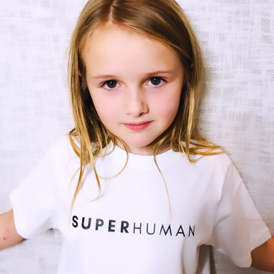 SUPER HUMAN T-Shirt : White & Black