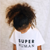 SUPER HUMAN T-Shirt For Children: White With Black Bold Font Design