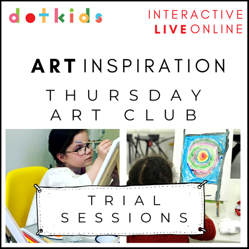 Trial Sessions Of Thursday Art Club: Interactive, Live & Online
