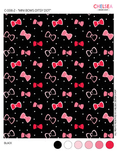 "C-006-2 - ""MINI BOWS DITSY DOT"""