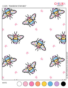 "C-029 - ""RAINBOW STAR BEE"""