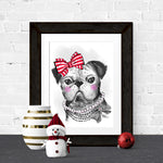Christmas-Pug-Illustration