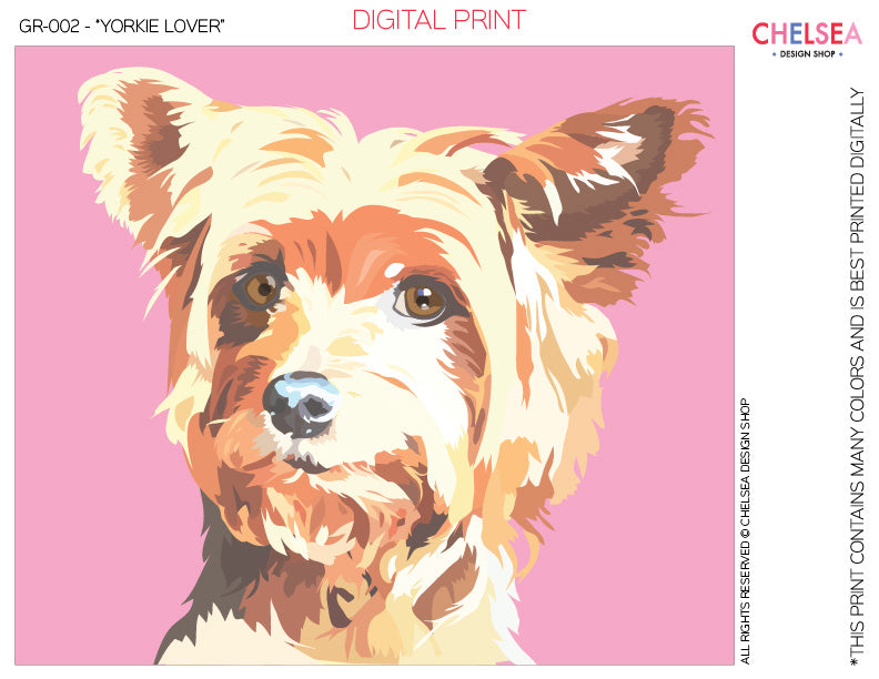 "GR-002 - ""YORKIE LOVER"" - GRAPHICS FOR LICENSE"
