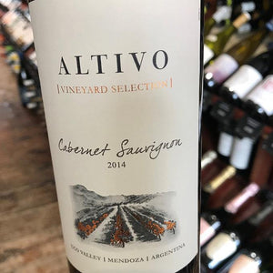 Altivo Cabernet Sauvignon Vineyard Selection 2014