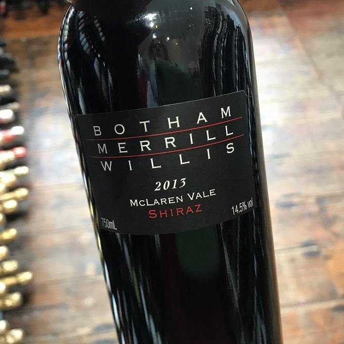 BMW Shiraz 2013, Botham Merrill Willis, South Australia